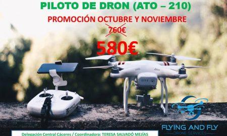ESPAÑA CURSO PILOTO DE DRONES EXTREMADURA FLYING AND FLY CÁCERES