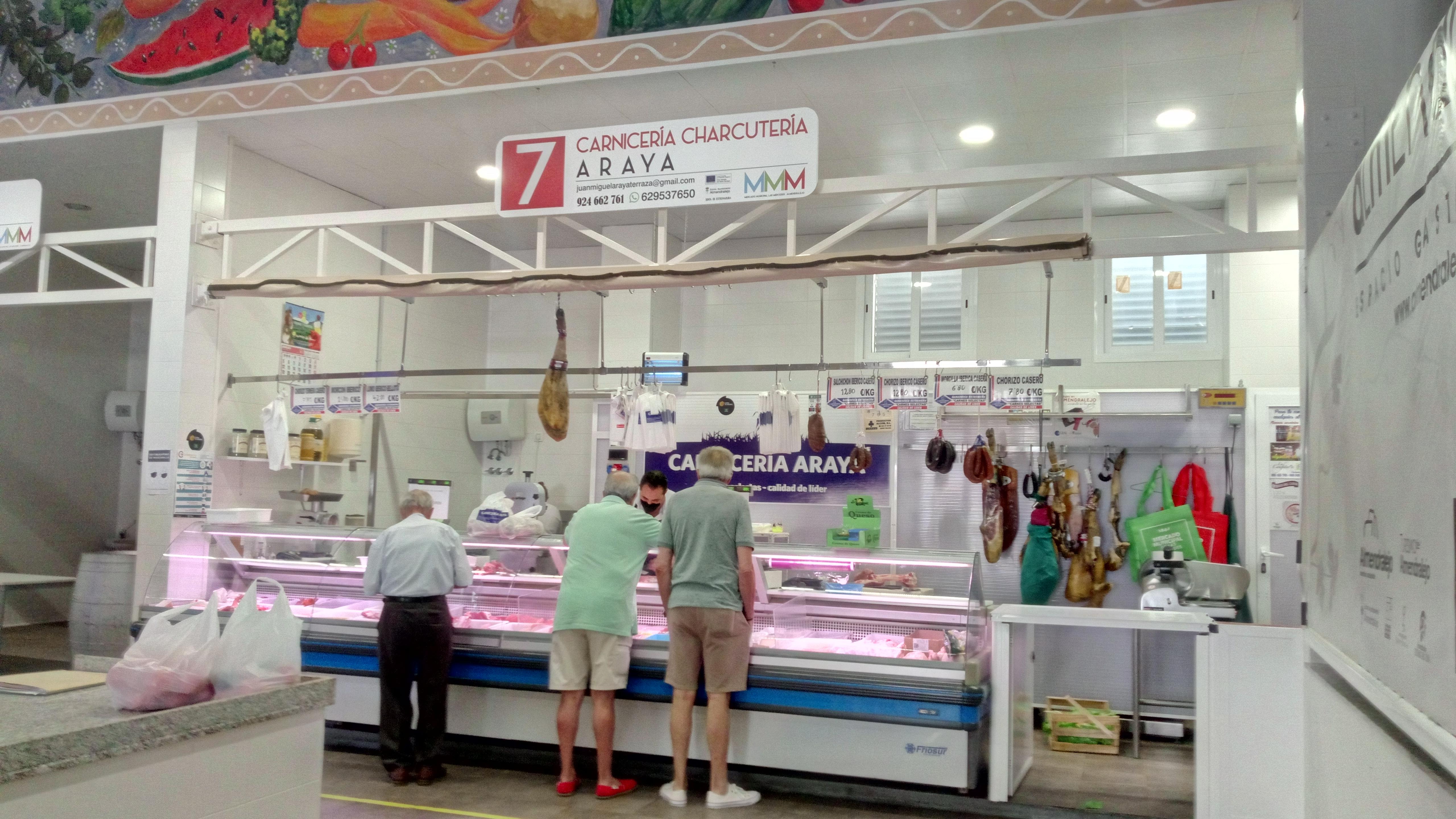 Carnicería especializada en Almendralejo Araya Plaza de Abastos
