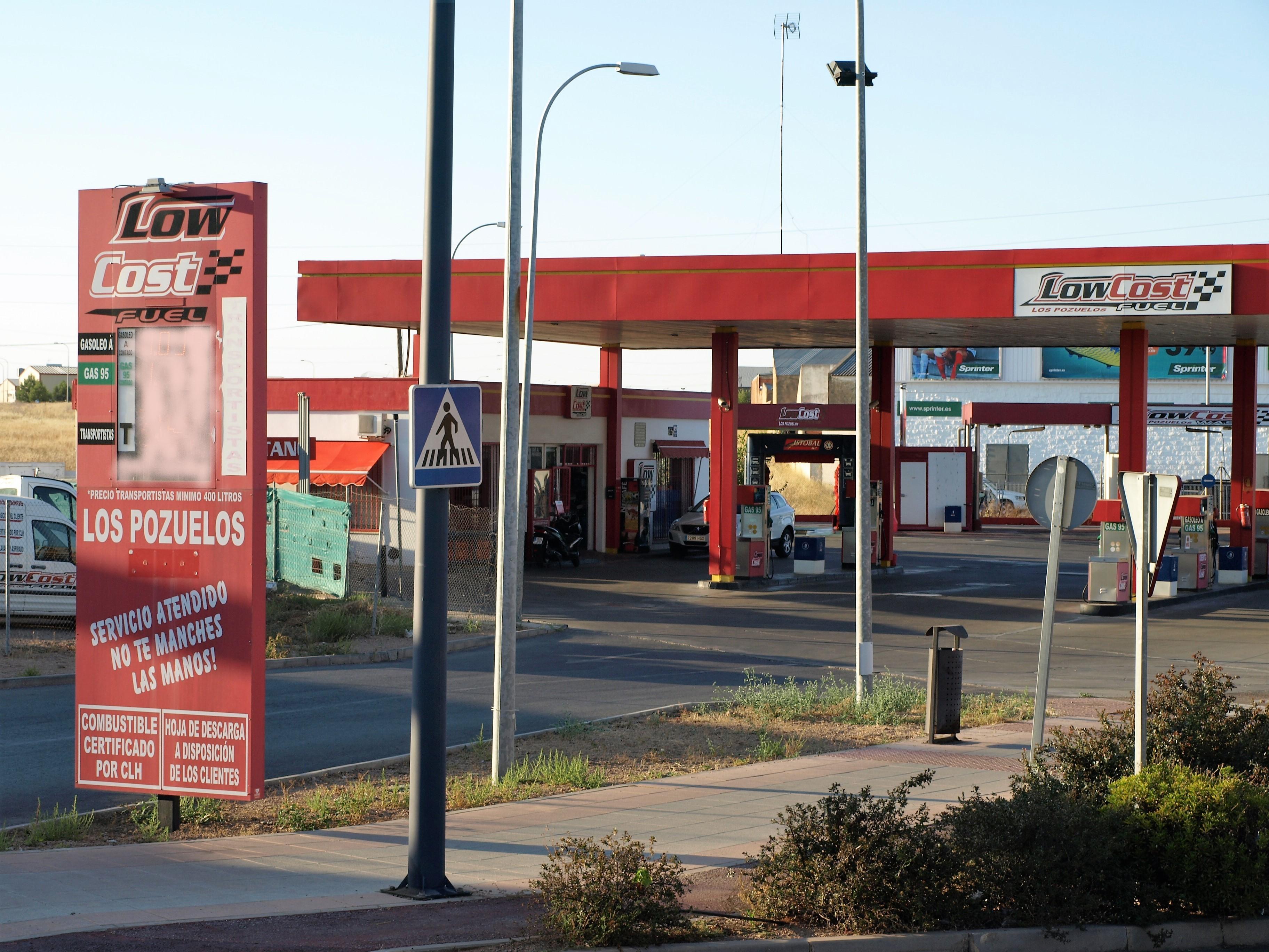 españa gasolinera los pozuelos low cost