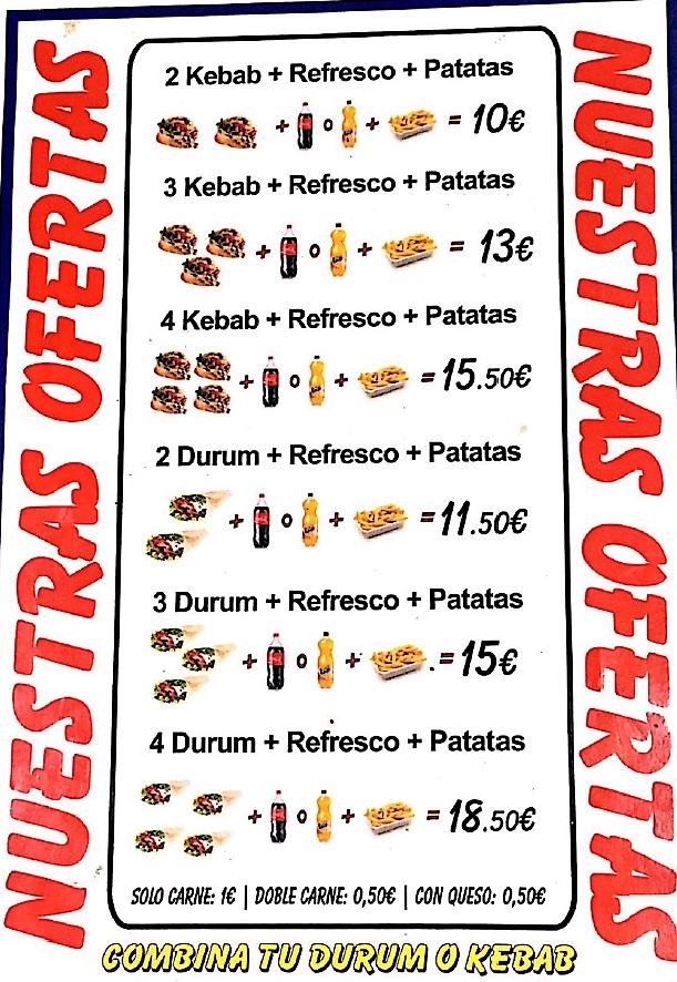 Kebab Cáceres Hot Doner Kebab Carta 5