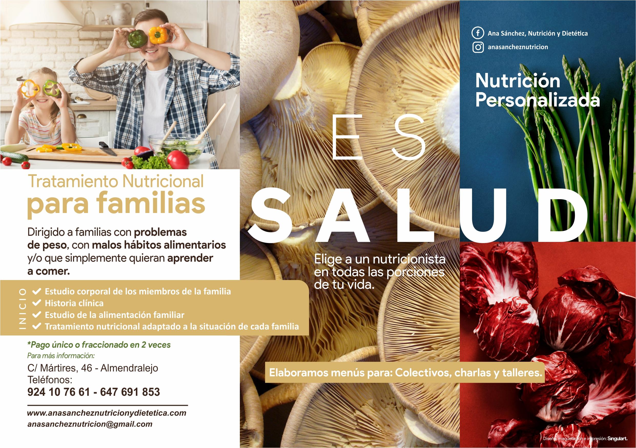 Tratamiento Nutricional para familias Ana Sánchez