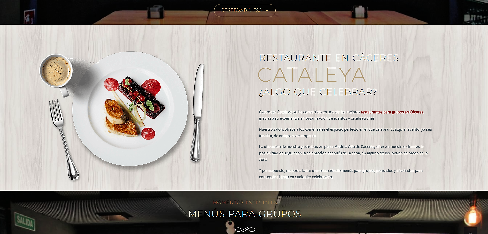 Restaurante Cáceres Cocina de autor Cataleya Gastrobar