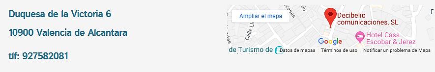 España Tienda de móviles en valencia de Alcantara Decibelio Movistar