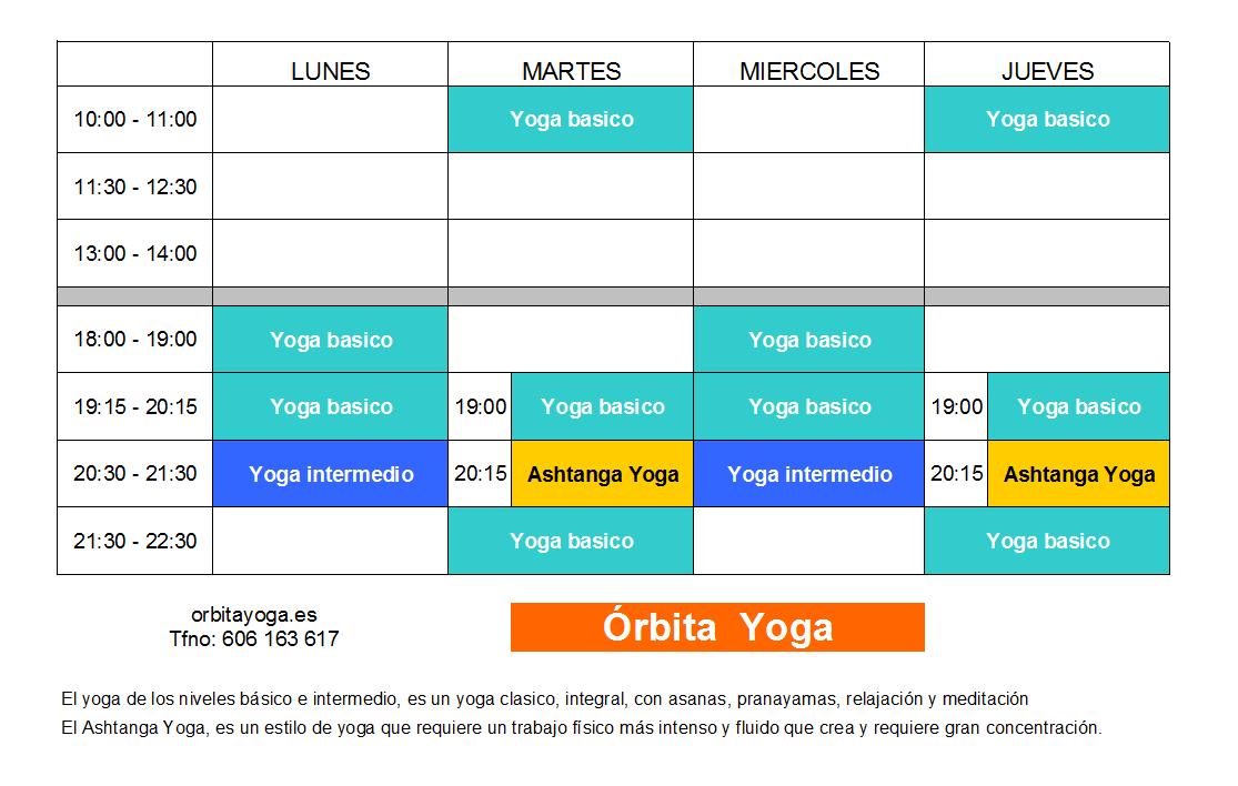 Yoga en Cáceres Orbita