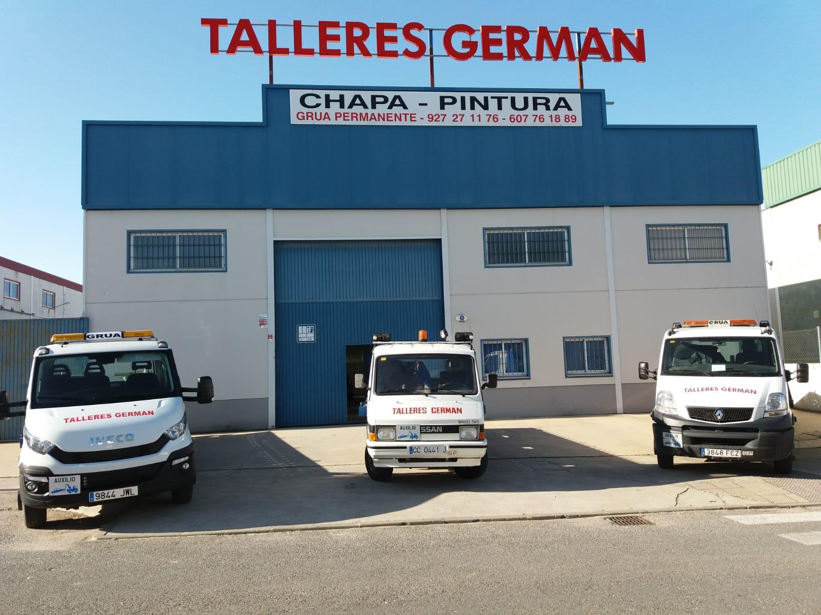 España Grúa 24h Cáceres Chapa y Pintura Arroyo de la Luz German