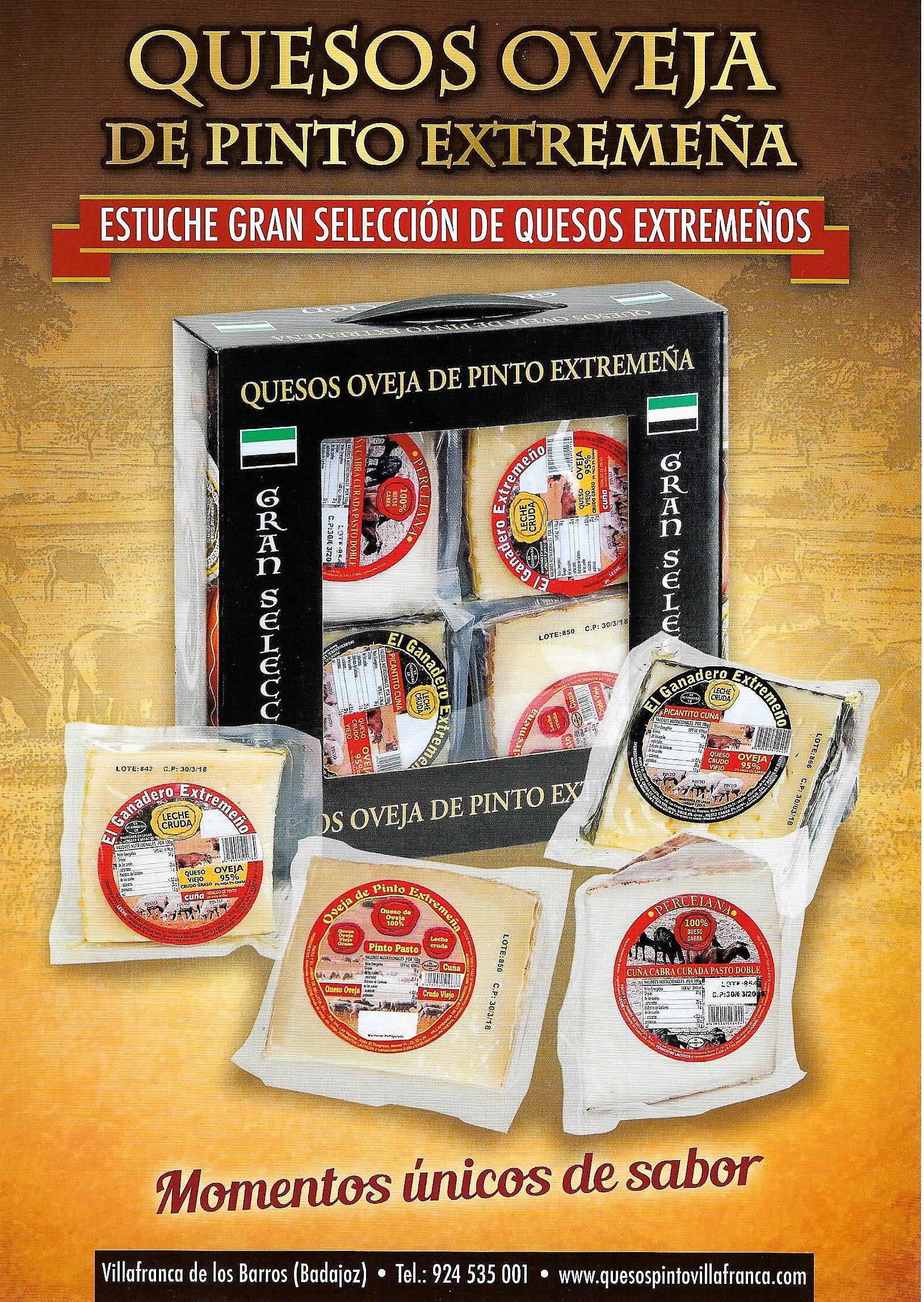 ESPAÑA DISTRIBUIDOR DE QUESOS EXTREMADURA QUESOS PINTO