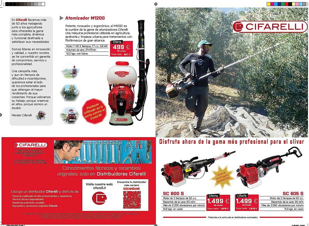 Maquinaria Profesional para campo agricola Marroyo Cáceres Vareadores motocultores Alquiler