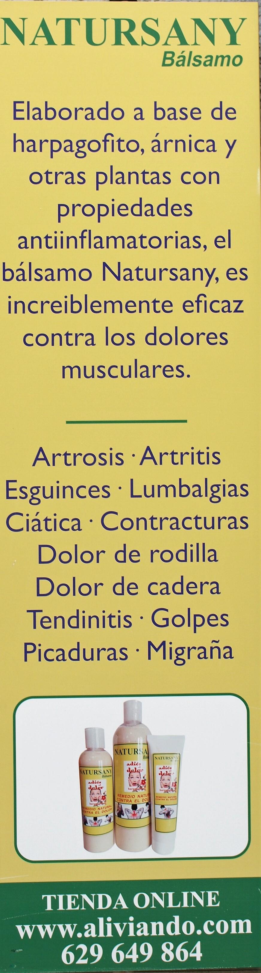 España Balsamo contra artritis, artrosis Natursany -Zafra