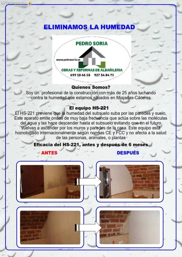 eliminar humedades Extremadura Pedro Soria