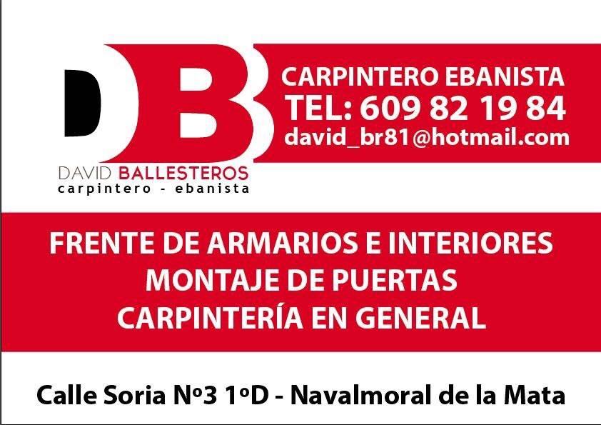 CARPINTERIA EBANISTERIA NAVALMORAL DE LA MATA DAVID BALLESTEROS