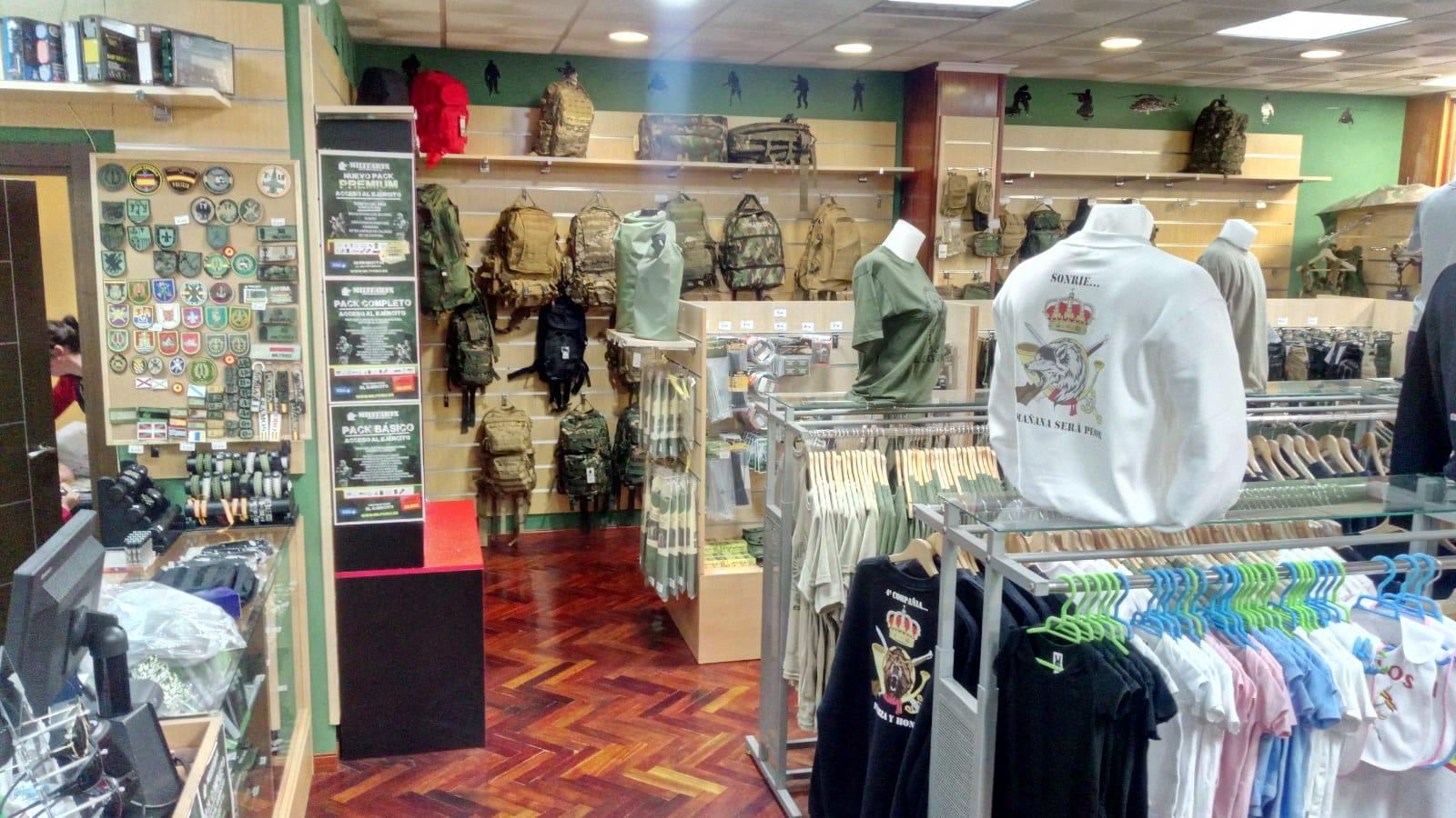 Ropa militar Cáceres Militarix