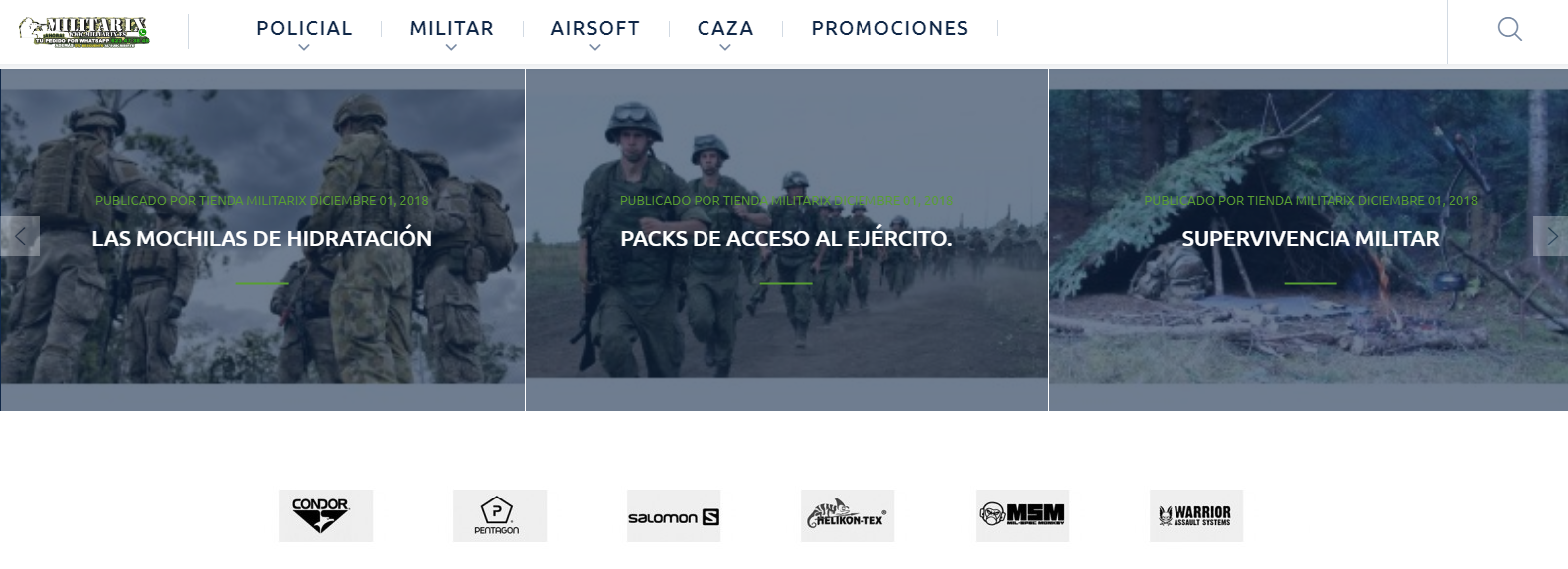 Ropa online militar caza pesca ofertas Militarix