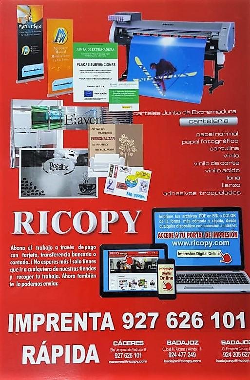 RICOPY IMPRENTA COPISTERÍA CÁCERES