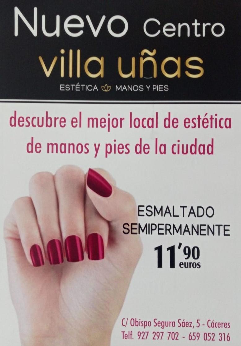 Manicura Pedicura Centro de Cáceres Villa Uñas