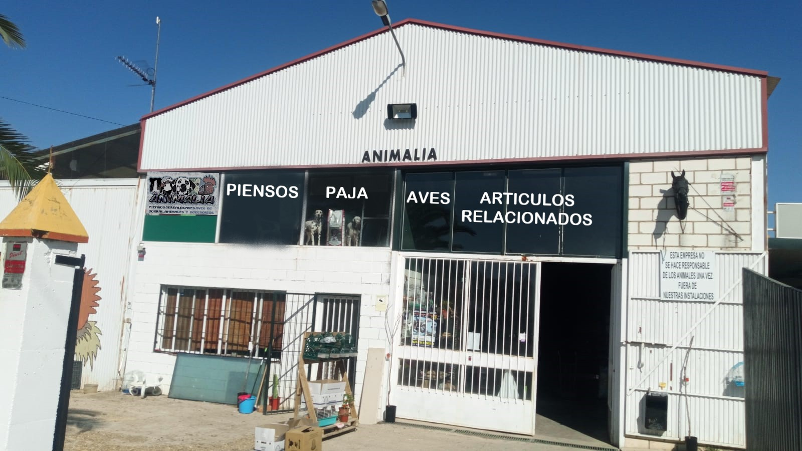 Tienda de animales en Cáceres Poligono ganadero Animalia