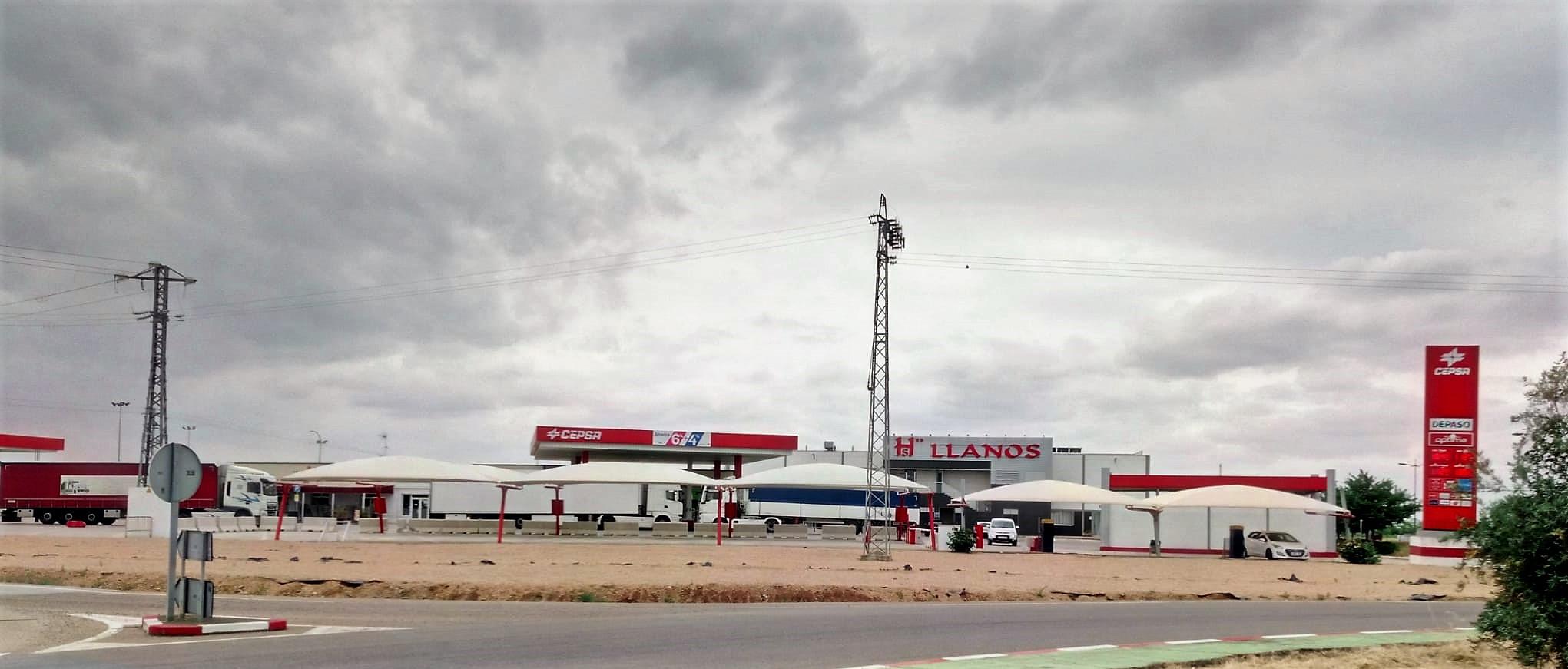España Area de descanso A66 Ruta de la Plata Los Llanos de Extremadura