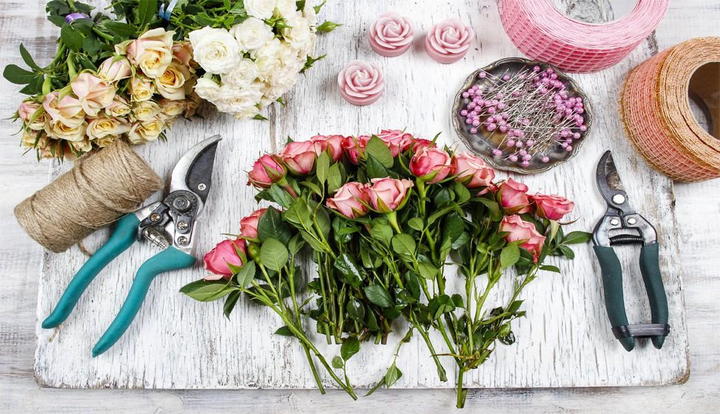 لوازم مورد نیاز گلآرایی